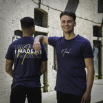 NOVEL 'I MADE ME' T-shirt Navy Blue