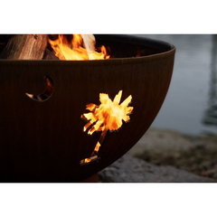 Fire Pit Art Tropical Moon Steel Fire Pit - Tropical Moon 36