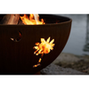"Image of Fire Pit Art Tropical Moon Steel Fire Pit - Tropical Moon 36""-FPA-MLS120"