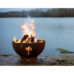Image of Fire Pit Art Tropical Moon Steel Fire Pit - Tropical Moon 36