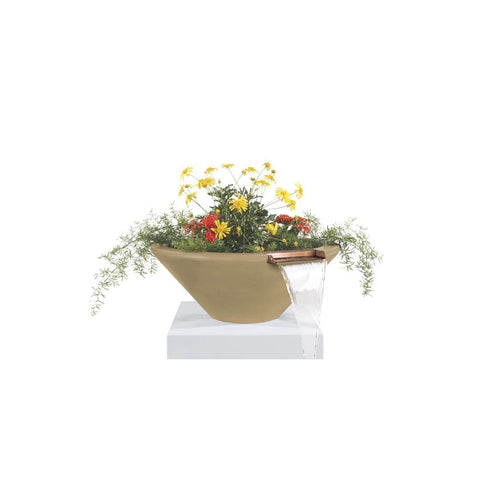 The Outdoor Plus Cazo Concrete Planter & Water Bowl OPT-24RPW