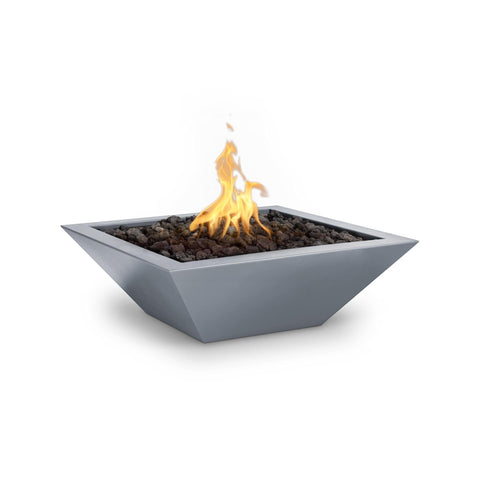 "The Outdoor Plus Maya 24"" Powder Coated Steel Metal Fire Bowl OPT-24SQPCFO"