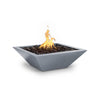 "Image of The Outdoor Plus Maya 24"" Powder Coated Steel Metal Fire Bowl OPT-24SQPCFO"