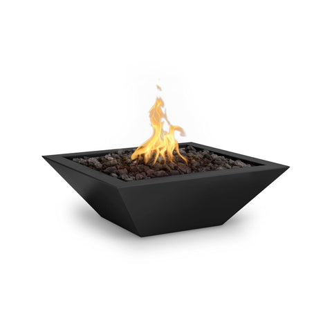 "The Outdoor Plus Maya 30"" Powder Coated Steel Metal Fire Bowl OPT-30SQPCFO"