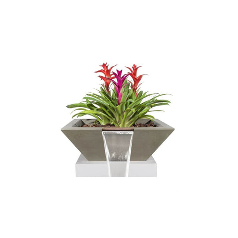 The Outdoor Plus Maya Concrete Planter & Water Bowl OPT-24SPW