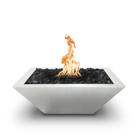 The Outdoor Plus Maya Stainless Steel Metal Fire Bowl OPT-103-SQ24