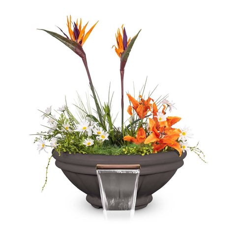 The Outdoor Plus Roma Concrete Planter & Water Bowl OPT-ROMPW24