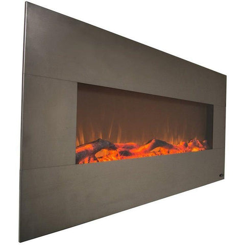 "Touchstone Onyx 50"" Wall-Mounted Electric Fireplace in Stainless Steel 80026"