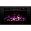 Image of Touchstone Sideline Recessed Electric Fireplace in Black
