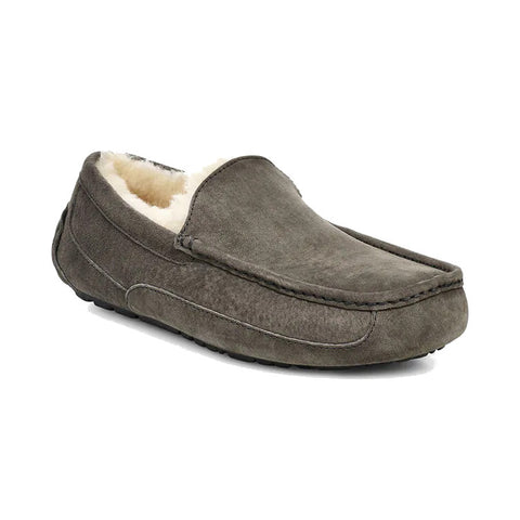 Ascot Mens Slipper Charcoal
