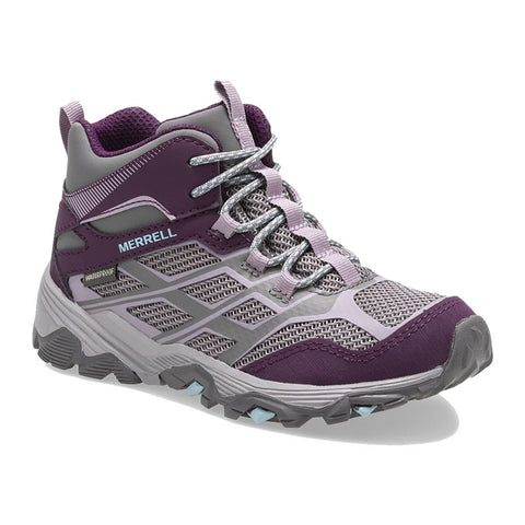 Moab Big Kid FST Mid Waterproof Charcoal Purple - Kids
