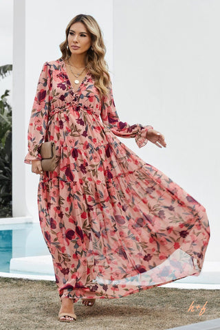 floral maxi dress for women