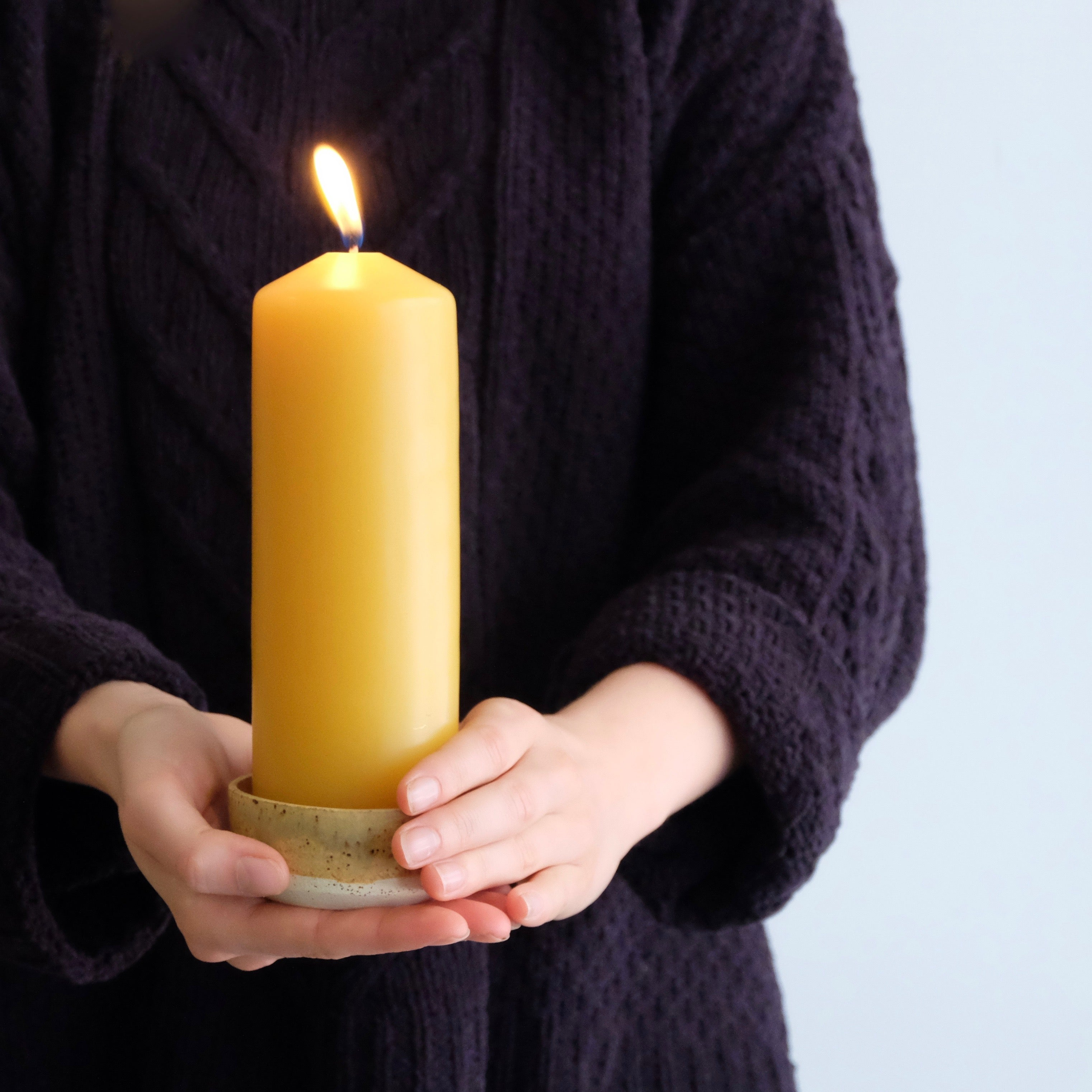 Beeswax Pillar Candle Thick