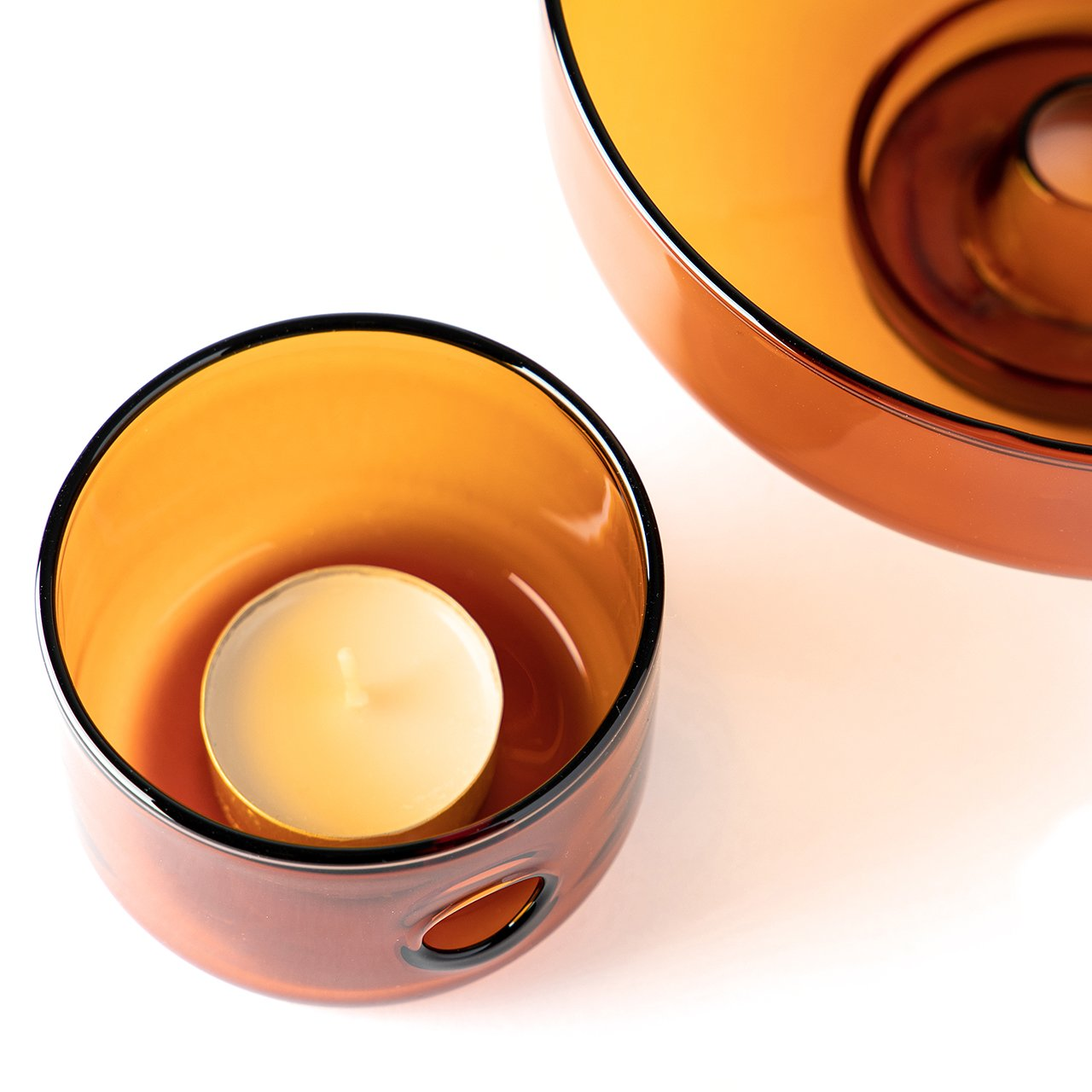 Oil + Water Amber Oil Burner