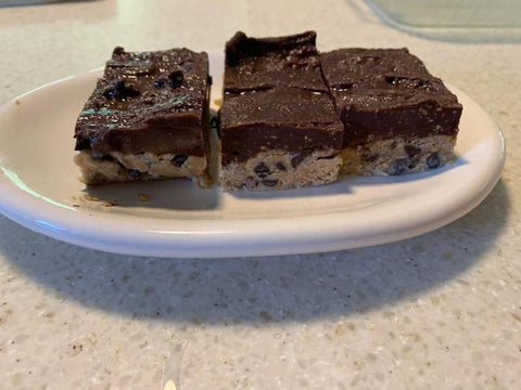 No Bake Cookie Dough Bars Finished