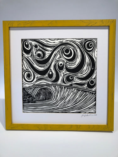 Stormy Wave Block Print