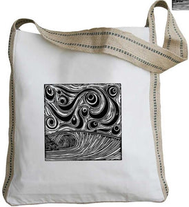 Windy Wave Messenger Tote with Long Handles