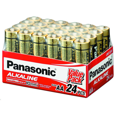 24 Pack AA Panasonic Alkaline Batteries