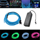 3M Rope Lights 8 Neon Colours Battery Powered