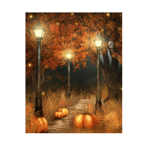 1.5m x 2.1m Pumpkin Lamp Photography Backdrop Studio Background