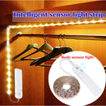 1M 2M 3M Battery Powered PIR Motion Sensor 2835 SMD LED Strip Light for Cabinet Kitchen Bedroom