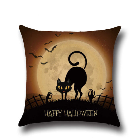Halloween Thriller Cats Cushion Cover