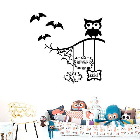 Removable Cartoon Halloween Wall Stickers