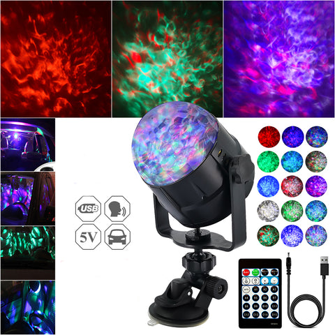 15 Colour Sound Activated LED Stage Light With Remote Control