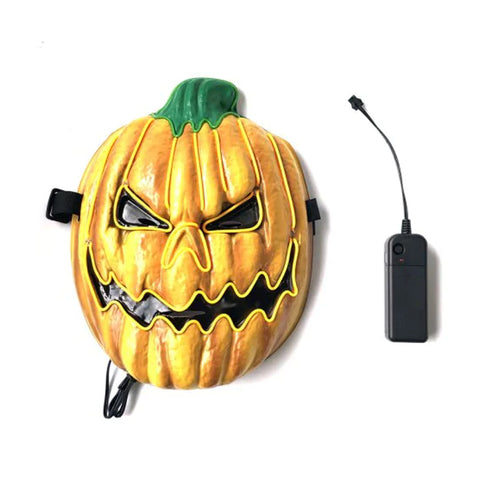 LED Pumpkin Mask