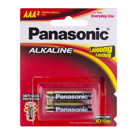 2 Pack AAA Panasonic Alkaline Batteries