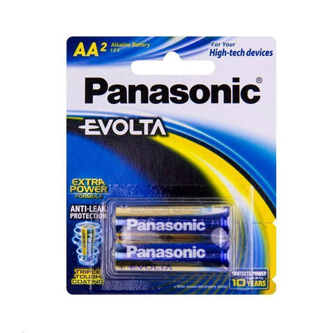 2 Pack AA Panasonic Alkaline Batteries