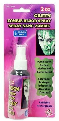 Green Zombie Blood Spray