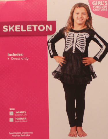 Girls Skeleton Costume - Toddler