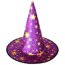 Children's Witch Hat With Gold Stars