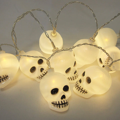10 LED Skull Lights