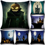 Halloween Pumpkin Haunted House Cushion Cover