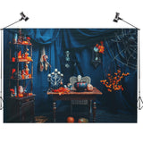 2.1m x 1.5m Halloween Living Room Skeleton Wall Cloth Photography Backdrop