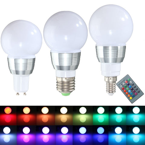 LED RGB Dimmable Light Bulb With Remote Control