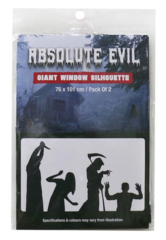 Absolute Evil Giant Window Silhouette