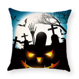 Halloween Terror Pumpkin Bat Owl Pattern Cushion Cover