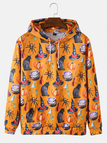 Mens Halloween Hoodie With Muff Pocket