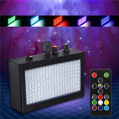 LED Strobe Flash Stage Lights Sound Activated With Remote Control