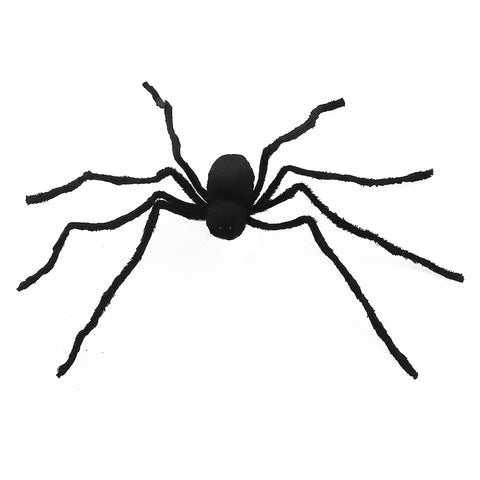 125cm Black Plush Spider With Glowing Eyes