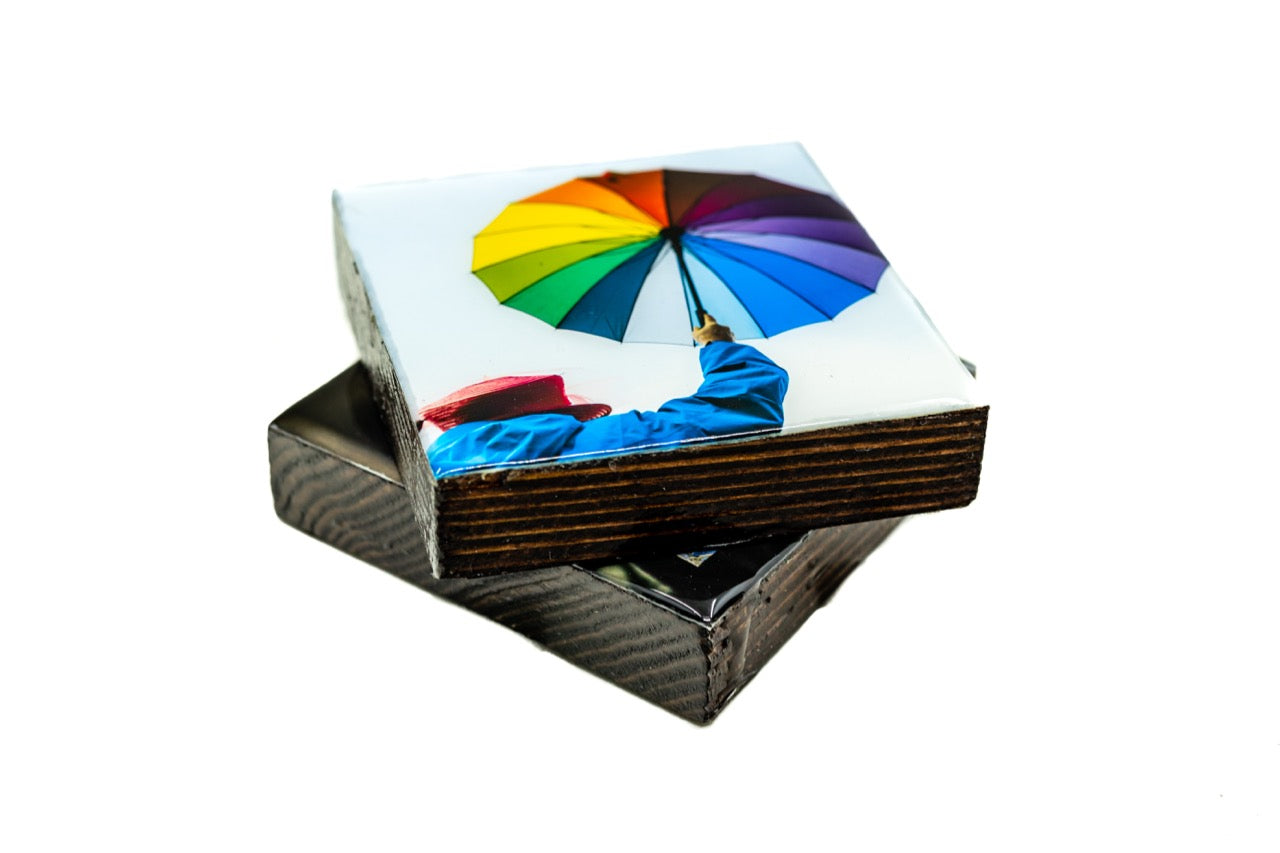 Rainbow Umbrella Coaster