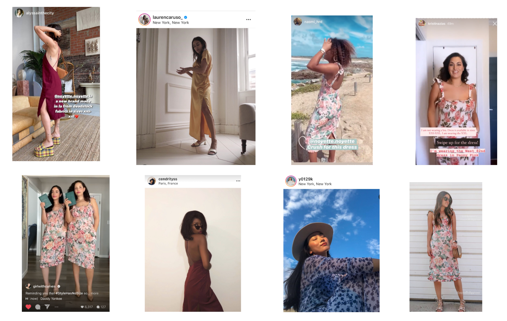 Noyette as seen on notable instagram influencers