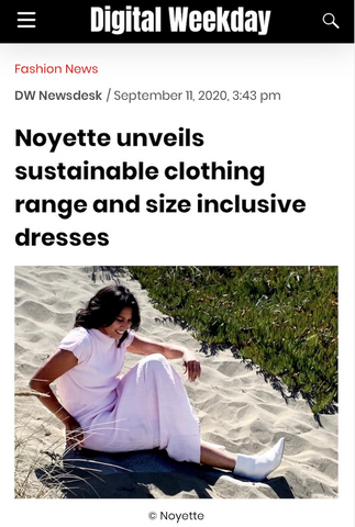 Noyette sustainable and size inclusive fashion brand in Digital Weekday