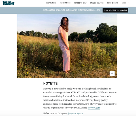 Noyette as seen on Conde Nast Traveller site