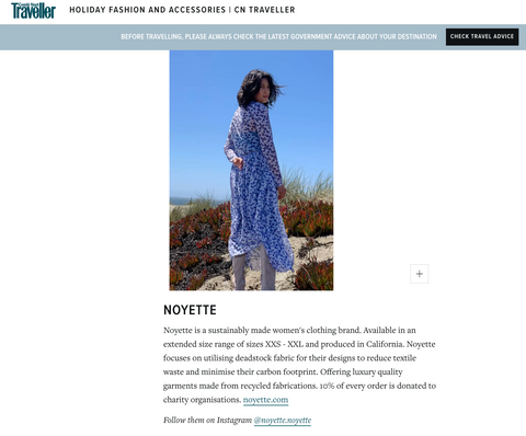 Noyette as seen on Conde Nast Traveller