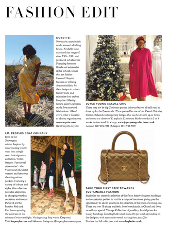 Noyette as seen in the January issue of Haper's Bazaar UK