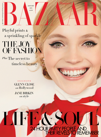 January Cover of Harper's Bazaar UK Issue